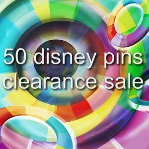 50 Disney pins clearance sale.